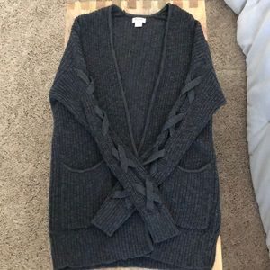 Grey Knit Cardigan
